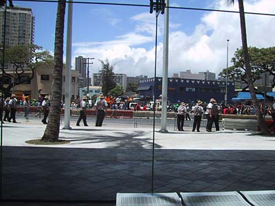 Kamalani marching in protest